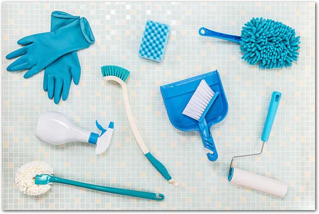ホームクリーニングの道具